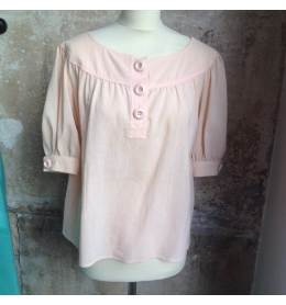 Blouse vintage Saint-Laurent nude