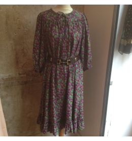Silky and printed vintage Emanuel Ungaro dress