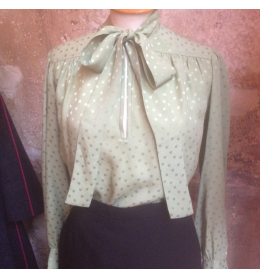 Polka dots silky Saint-Laurent vintage blouse