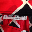 Jupe Saint-Laurent vintage losanges