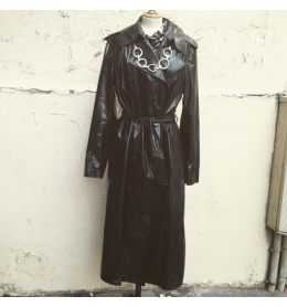 Trench coat vintage Renoma vynil noir T40