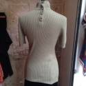 Pull Chanel vintage manches courtes cachemire