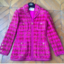 Veste CHANEL tweed et lurex rose T38