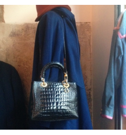 Sac Lady di crocodile vintage