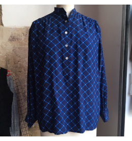 Blouse Saint-Laurent vintage soie bleue