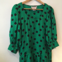 Robe soie vintage Yves Saint-Laurent variation T38 pois