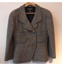 Veste CHANEL vintage T42 tweed