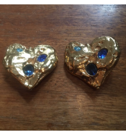 Clips Yves Saint Laurent vintage coeur