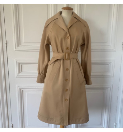 Trench coat 70s Christian Aujard T36/S