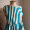 Robe rayures LAURA ASHLEY T36