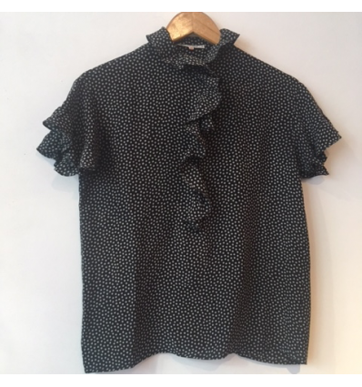 Blouse soie Saint-Laurent vintage pois T38